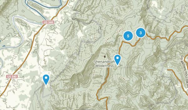 Rileyville, Virginia Hiking Map