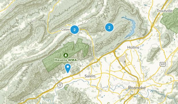 Salem, Virginia Nature Trips Map