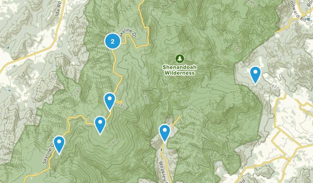 Syria, Virginia Trail Running Map