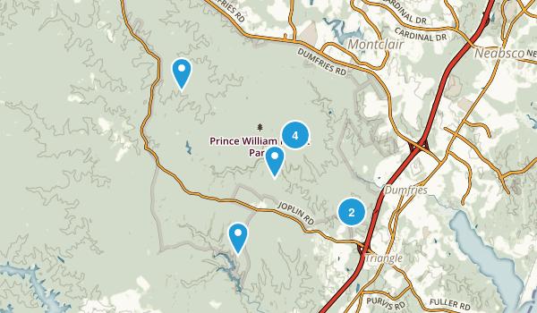 Triangle, Virginia Birding Map