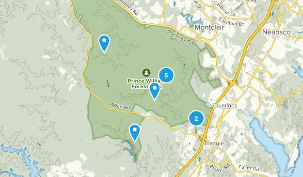 Triangle, Virginia Birding Map