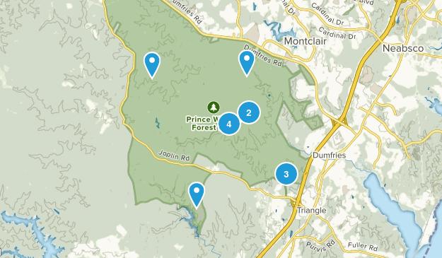 Triangle, Virginia Views Map