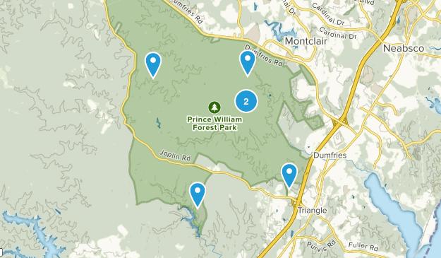 Triangle, Virginia Wildlife Map