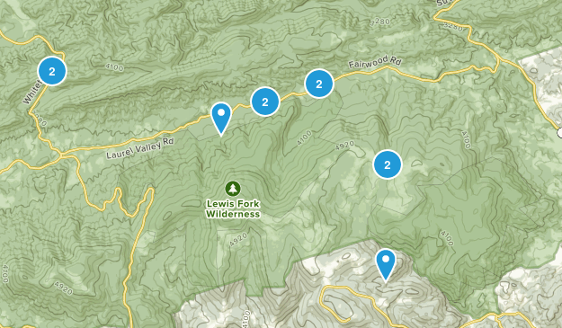 Troutdale, Virginia Hiking Map