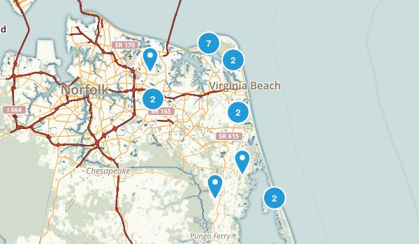 Virginia Beach, Virginia Birding Map