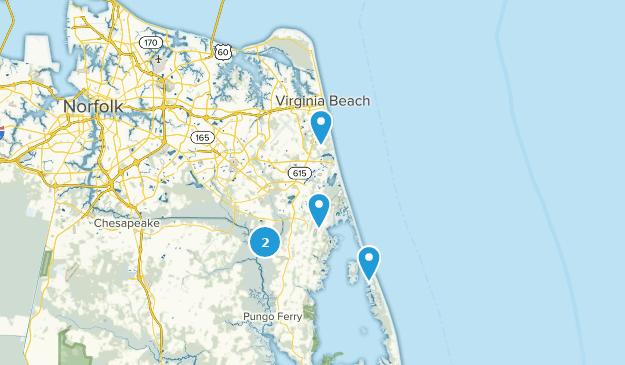 Virginia Beach, Virginia Fishing Map