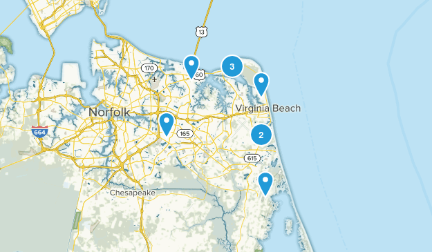 Virginia Beach, Virginia River Map
