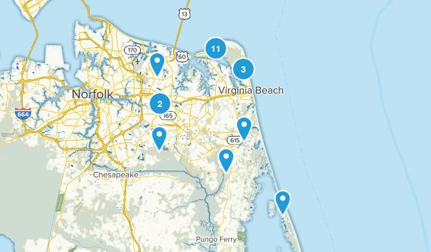 Virginia Beach, Virginia Walking Map