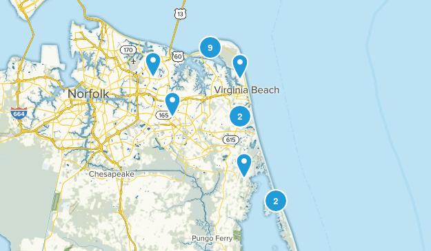Virginia Beach, Virginia Wildlife Map