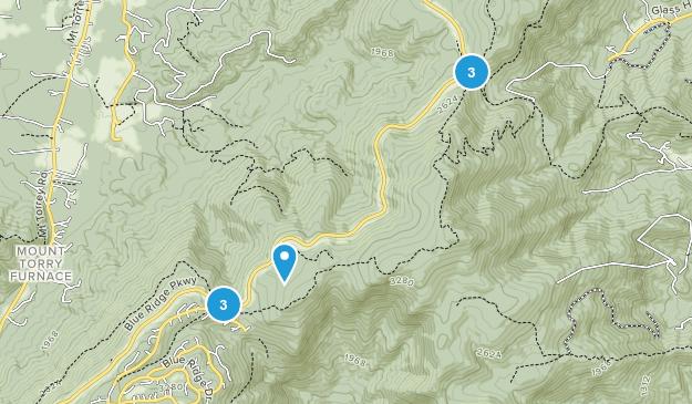 Wintergreen, Virginia Dogs On Leash Map