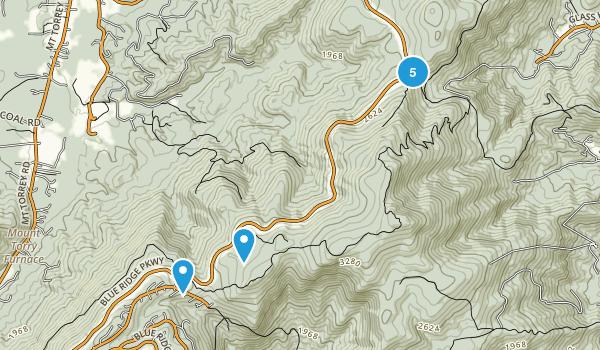 Wintergreen, Virginia Forest Map