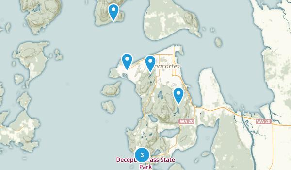 Anacortes, Washington Beach Map