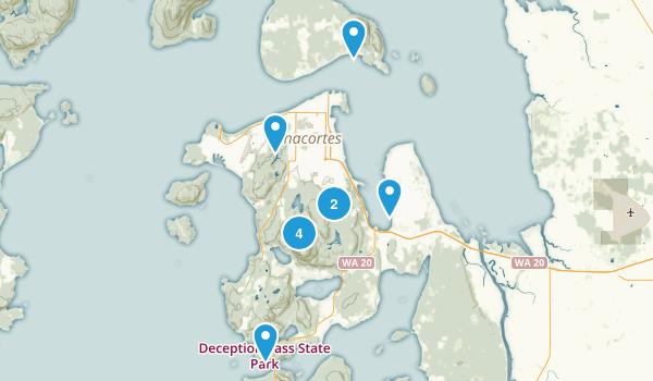 Anacortes, Washington Dogs On Leash Map