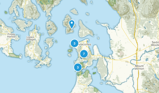 Anacortes, Washington Forest Map