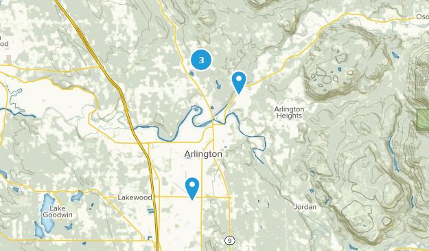 Arlington, Washington Mountain Biking Map