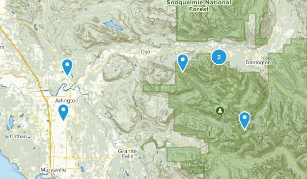 Arlington, Washington Nature Trips Map