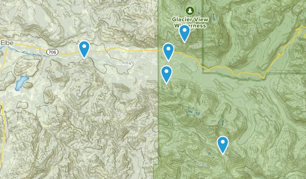 Ashford, Washington Dogs On Leash Map