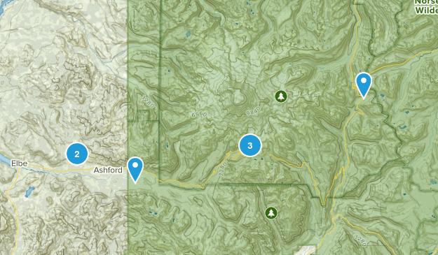 Ashford, Washington Snowshoeing Map