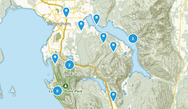 Bellingham, Washington Forest Map