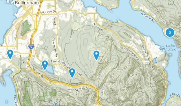 Bellingham, Washington Mountain Biking Map