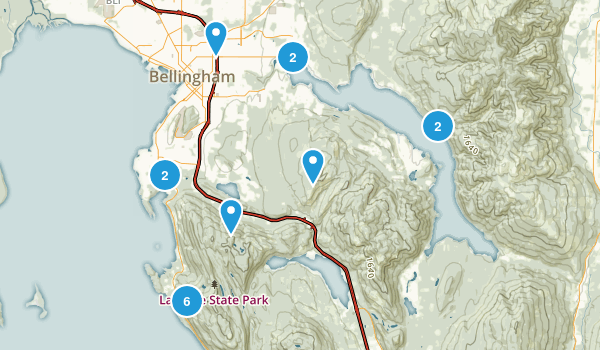 Bellingham, Washington Nature Trips Map