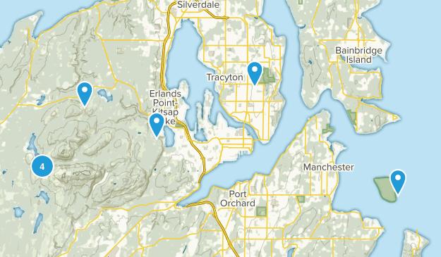 Bremerton, Washington Hiking Map