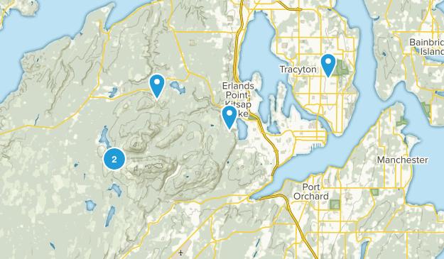 Bremerton, Washington Mountain Biking Map