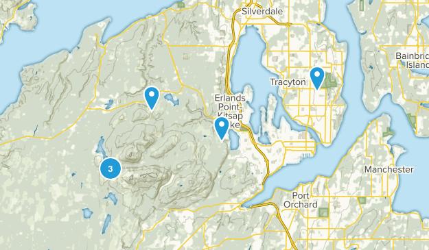 Bremerton, Washington Nature Trips Map