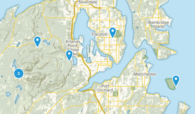 Bremerton, Washington Trail Running Map