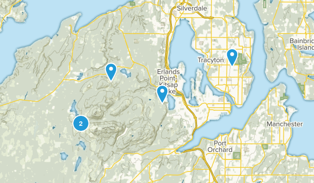 Bremerton, Washington Wild Flowers Map