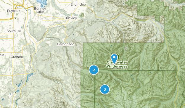 Buckley, Washington Camping Map