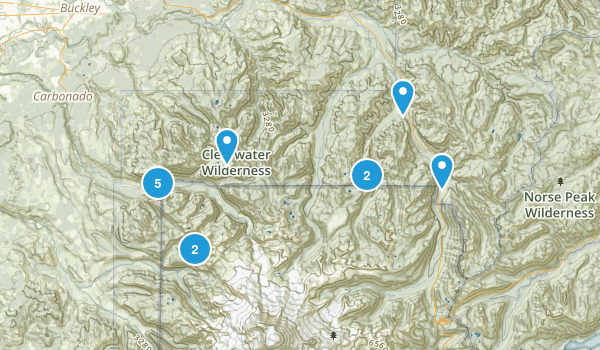 Buckley, Washington Hiking Map