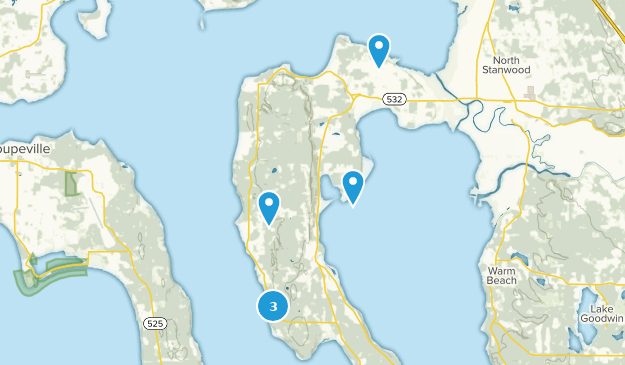 Camano Island, Washington Bird Watching Map