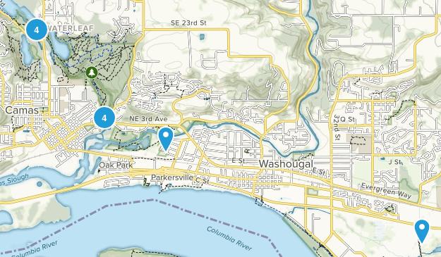 Camas, Washington Bird Watching Map