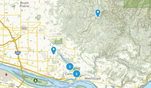 Camas, Washington Forest Map