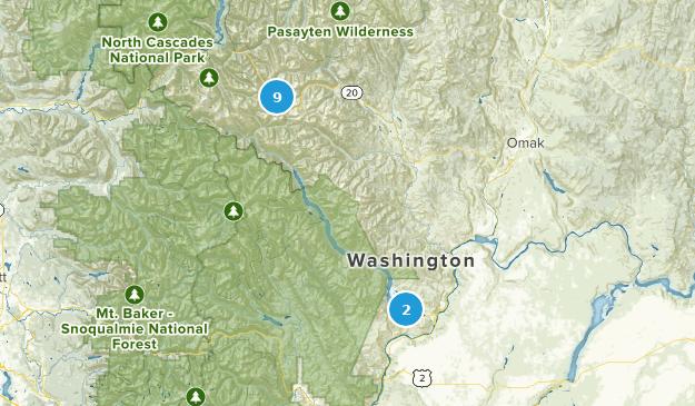 Chelan, Washington Hiking Map