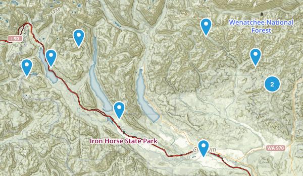 Cle Elum, Washington Dogs On Leash Map