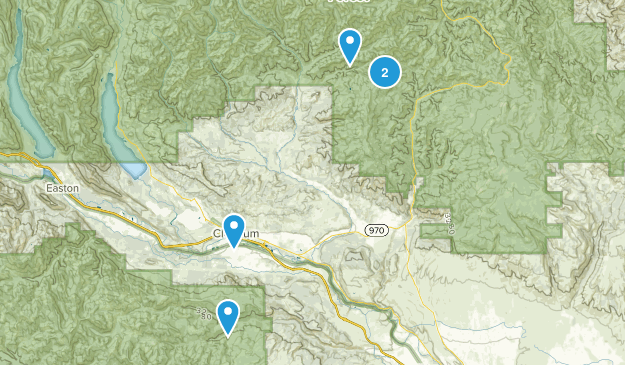Cle Elum, Washington Mountain Biking Map