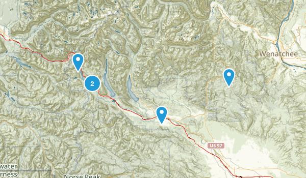 Cle Elum, Washington Snowshoeing Map