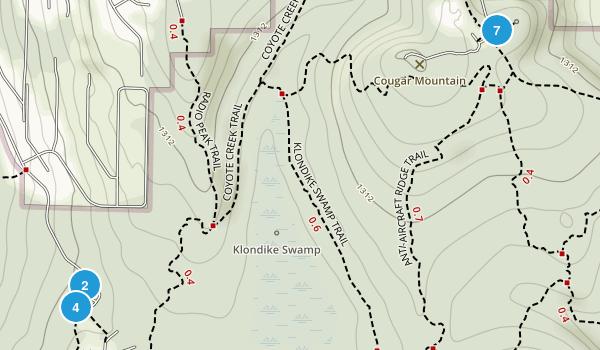 Coal Creek, Washington Forest Map