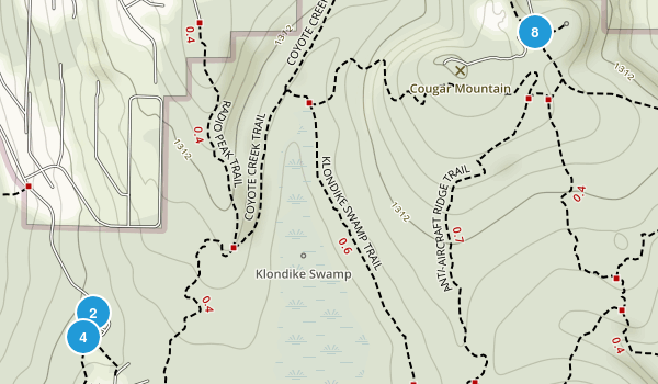 Coal Creek, Washington Hiking Map
