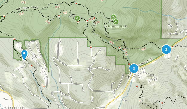 Coalfield, Washington Hiking Map