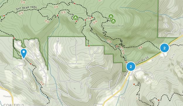 Coalfield, Washington Nature Trips Map