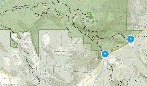 Coalfield, Washington Wild Flowers Map