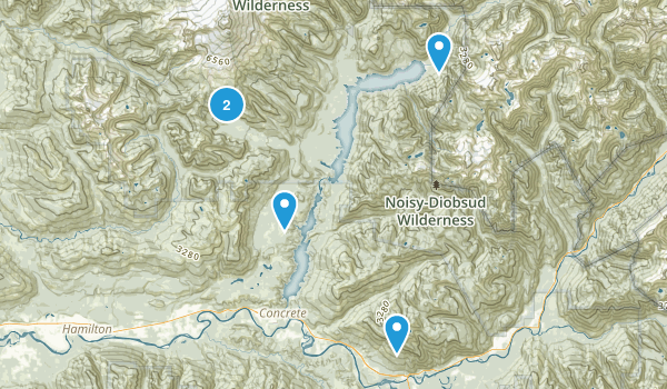 Concrete, Washington Camping Map