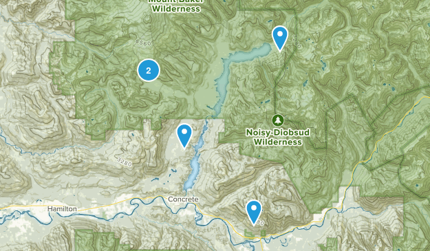 Concrete, Washington Camping Map
