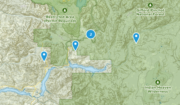 Cougar, Washington Camping Map