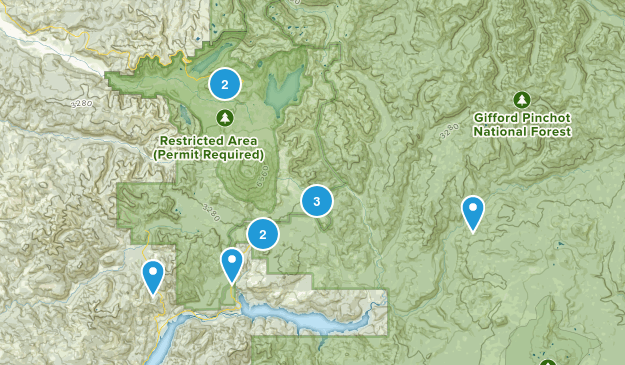 Cougar, Washington Hiking Map