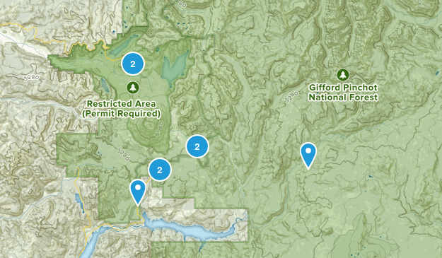 Cougar, Washington Wild Flowers Map