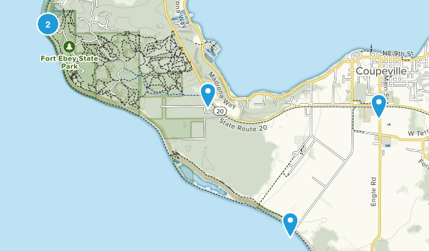 Coupeville, Washington Hiking Map